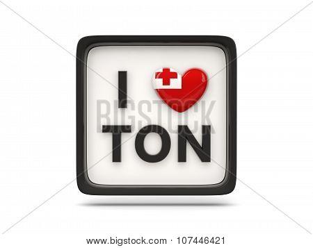 I Love Tonga Sign