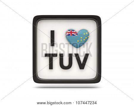 I Love Tuvalu Sign