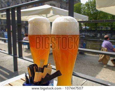 German Weiss Beer Glass