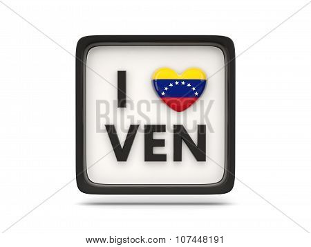 I Love Venezuela Sign