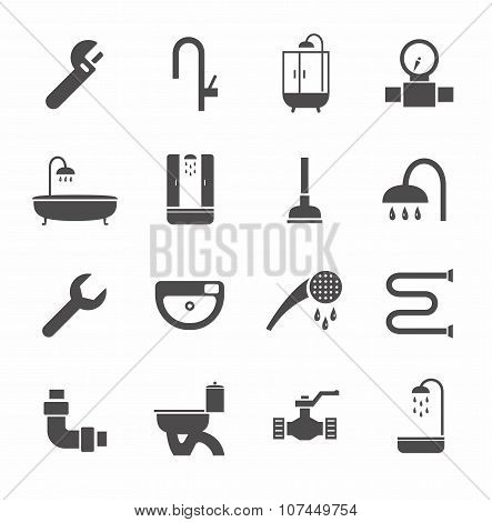 Plumbing, Icons, Monochrome, ...