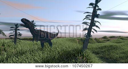 roaring majungasaurus