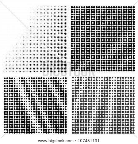 Set of  Halftone Patterns.