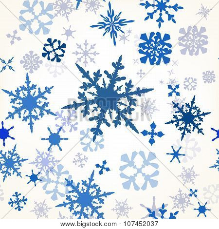 Pattern With Hand Drawn Shiny Snowflakes Ideal For Christmas Design