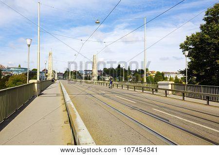 Bridge Over The Aare River In Bern, Switzerland