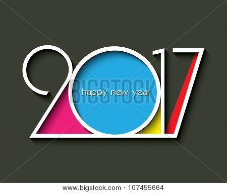 2017 New Year Creative Design For Your Greetings Card, Flyers, Invitation, Posters, Brochure, Banner