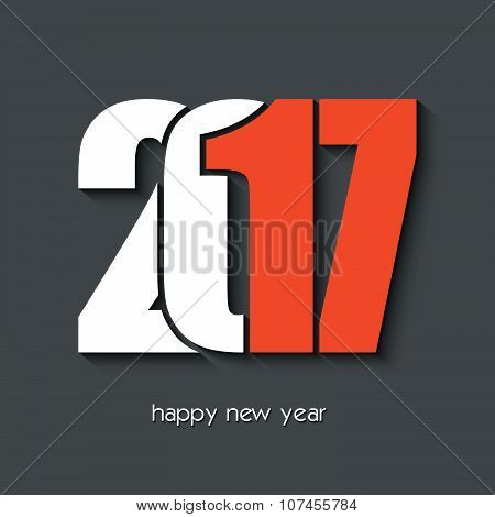 2017 Happy New Year Creative Design For Your Greetings Card, Flyers, Invitation, Posters, Brochure,