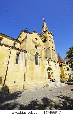 The Collegiate Church Of Neuchatel, Switzerland