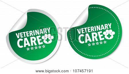 Veterinary care stickers