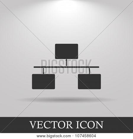 Local Area Network Icon. Flat