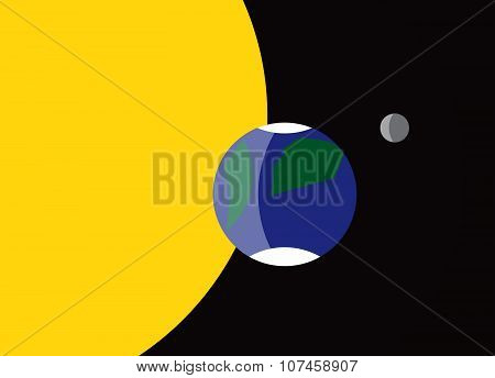 Planet Earth Flag Symbol