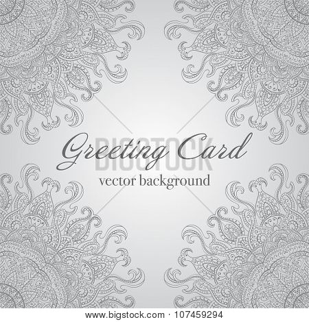 Card or invitation with mandala pattern.