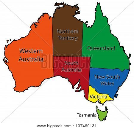 Australia Territories Colour