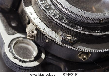 Detail Of An Old Camera