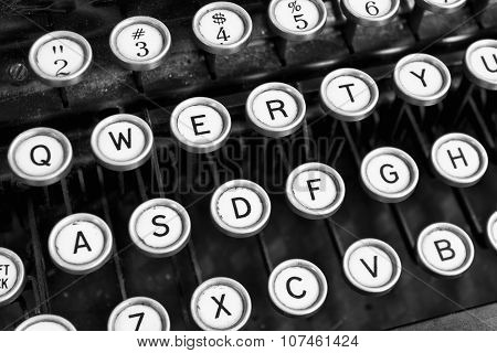 Antique Typewriter - An Antique Typewriter Showing Traditional Qwerty Keys XI