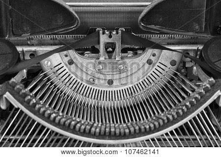 Antique Typewriter - An Antique Typewriter Showing Traditional Typebars