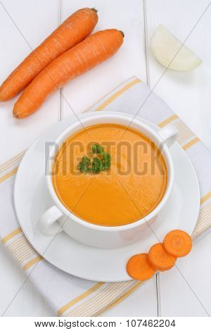 Carrot Soup Lunch With Carrots In Bowl