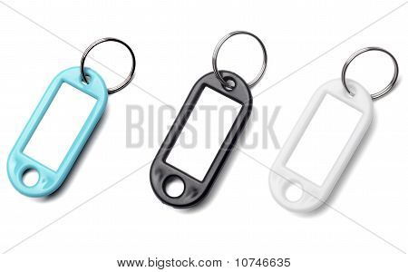 Key Fob Label Chain
