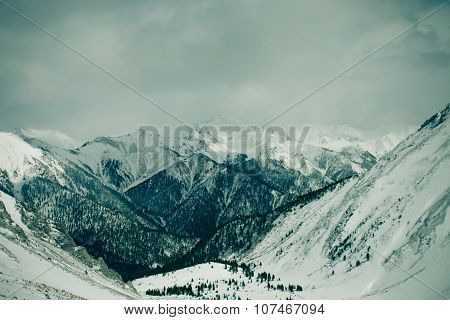 Beautiful landscape of mountains.