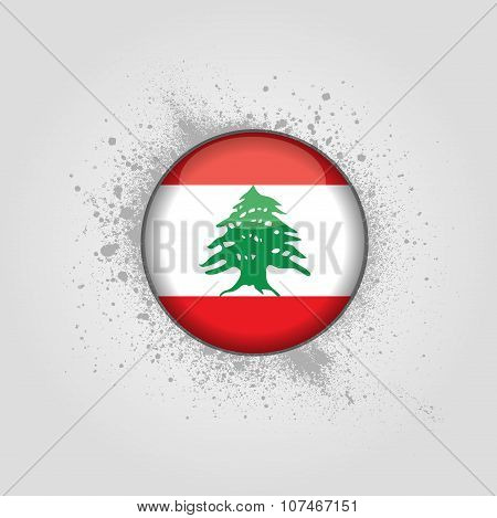 background with flag of Lebanon