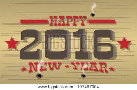 2016 Happy New Year Western