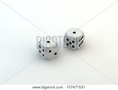 Fail. White dice. Failure. Defeat.