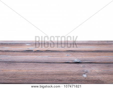 Dark Textured Wooden Planks Parallel Background Isolated On White