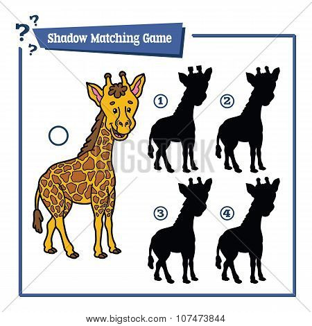 funny shadow giraffe game.