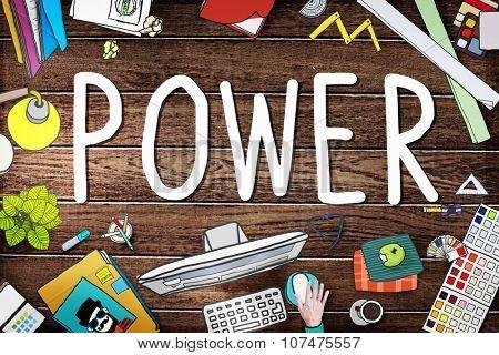 Power Energy Eletric Generator Technology Concept