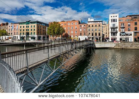 Millennium Bridge is a pedestrian bridge over the river Liffey in Dublin, Ireland
