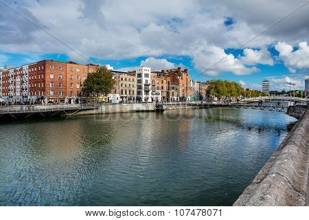 Millennium Bridge is a pedestrian bridge over the river Liffey in Dublin, Ireland