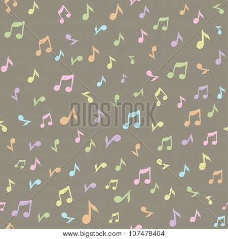 Abstract music seamless pattern background vector illustration for your design. Vector seamless patt
