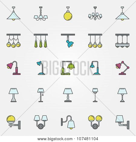 Lamp icons or signs