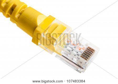 Yellow Wire Closeup