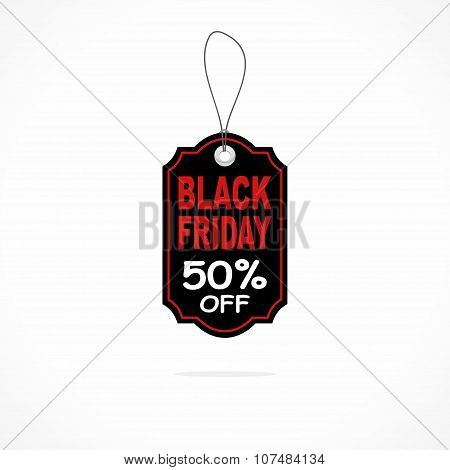 Black Friday sales tag or label