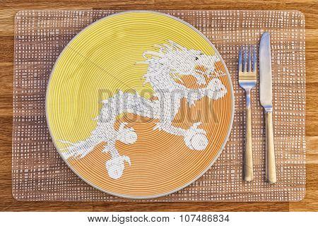 Dinner Plate For Bhutan