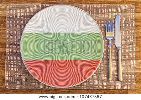 Dinner Plate For Bulgaria