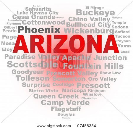 Arizona Word Cloud Heart