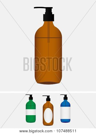 Mock up. Soap in a bottle with dispenser