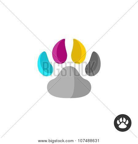 Animal Cmyk Paw