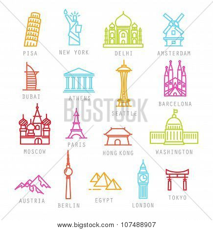 City Flat Color Icons
