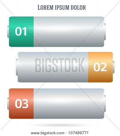 Battery template horizontal banner background