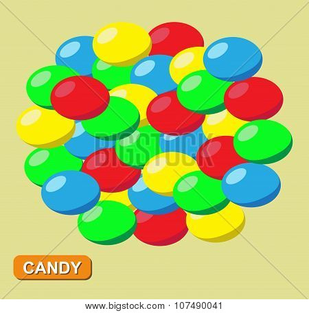 Colored candy, Vector
