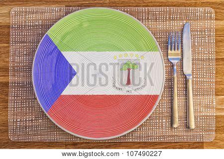Dinner Plate For Equatorial Guinea