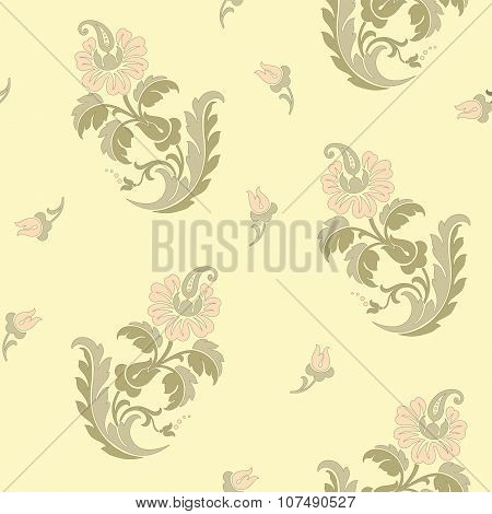 Seamless pattern with flowers roses. Vector. Floral illustration in romantic style