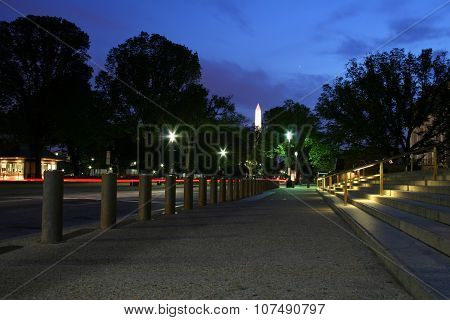 Washington obelisk at night