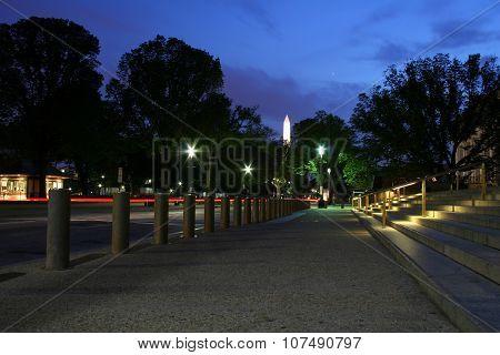 Washington obelisk at night