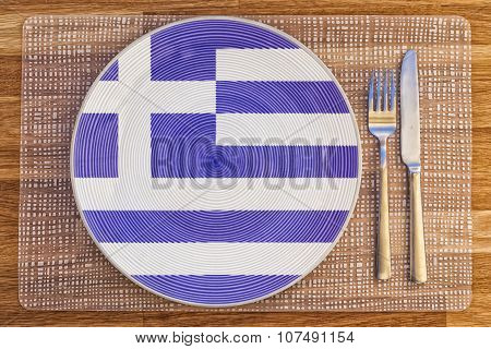 Dinner Plate For Greece
