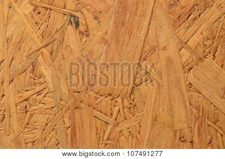 Pressed Wooden Panel (OSB) For Building. Seamless Tileable Texture