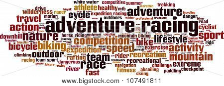 Adventure Racing Word Cloud